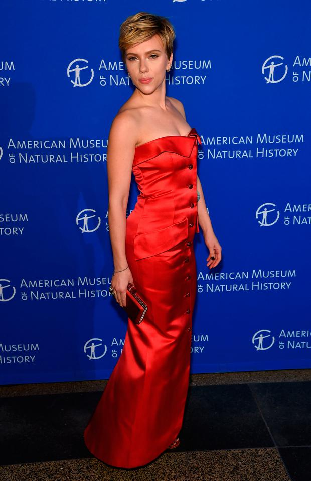 Scarlett Johansson attends the American Museum Of Natural History's 2017 Museum Gala at American Museum of Natural History on November 30, 2017 in New York City. (Photo by Jamie McCarthy/Getty Images)