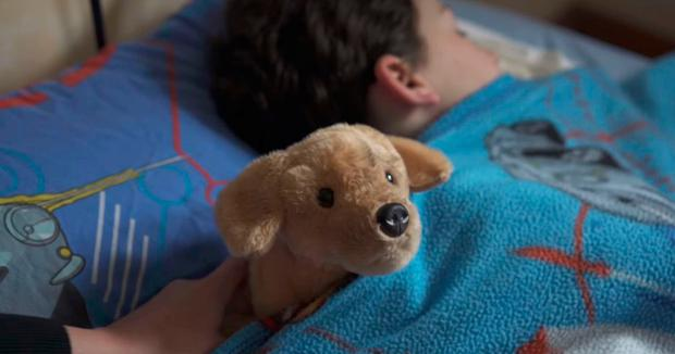 Undated handout video grab issued by the RSPCA of their Christmas advert which follows the story of an abandoned toy puppy and which has racked up more than 300,00 views online.