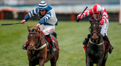 Total Recall, with Paul Townend up, on the way to touching off Whisper to win the Ladbrokes Trophy in December Photo: Alan Crowhurst/Getty Images