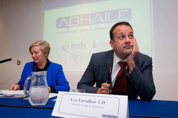 Parting of the ways: Taoiseach Leo Varadkar and former Tanaiste Frances Fitzgerald Photo: Gareth Chaney Collins