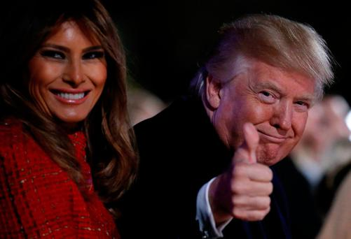 US President Donald Trump and first lady Melania Trump — his corporate tax reform package looks a lot different than the one he promised. Photo: Reuters