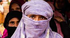 Shame: Rohingya women live in fear in the refugee camps Photo: Anna Dubuis/DFID/PA Wire