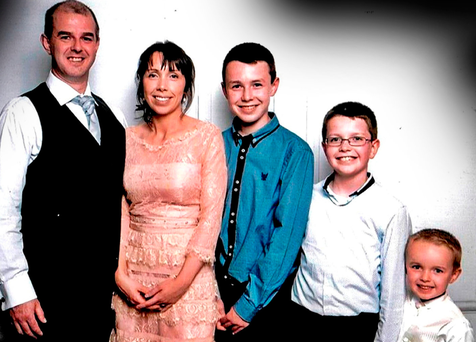 Control: Alan Hawe, who killed his wife Clodagh and their children, Liam (13) Niall (11) and Ryan (six) at their house near Ballyjamesduff, in Co Cavan, last year Photo: Hawes/Coll families/PA Wire