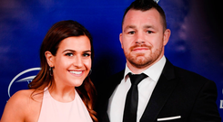 Wedding bells: Laura Smith and Cian Healy Photo: Stephen McCarthy/Sportsfile