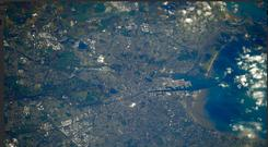 Ultimate view: A cold Dublin as seen from space