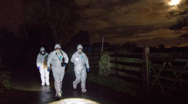 Garda Technical Bureau at the scene in Walterstown Farm in Dunboyne, investigating the circumstances surrounding the discovery of a body of a man in his 20s Picture by Fergal Phillips