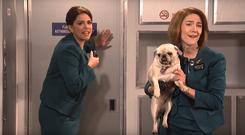 Cecily Strong and Saoirse Ronan on Saturday Night Live