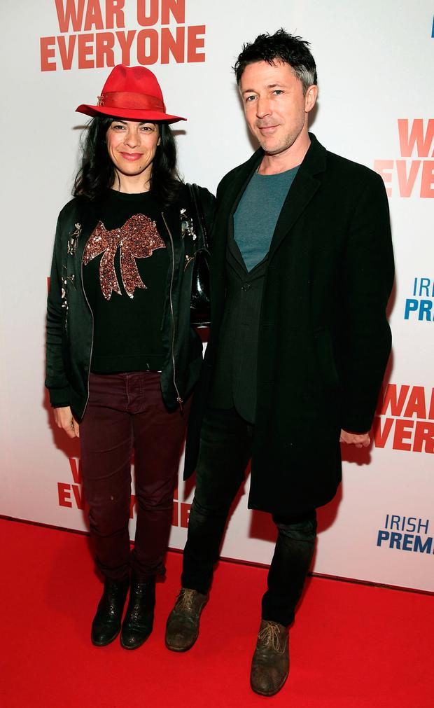 Guests at the birthday bash included Camille O'Sullivan and Aidan Gillen