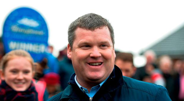 Trainer Gordon Elliott after sending out the winner of the second race at Fairyhouse Racecourse in Fairyhouse, Co Meath. Photo by Cody Glenn/Sportsfile