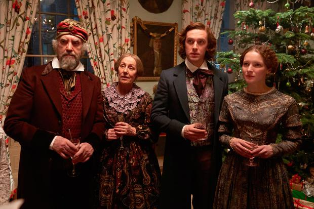 Jonathan Pryce, Ger Ryan, Dan Stevens and Morfydd Clarkin Bharat Nalluri's The Man Who Invented Christmas