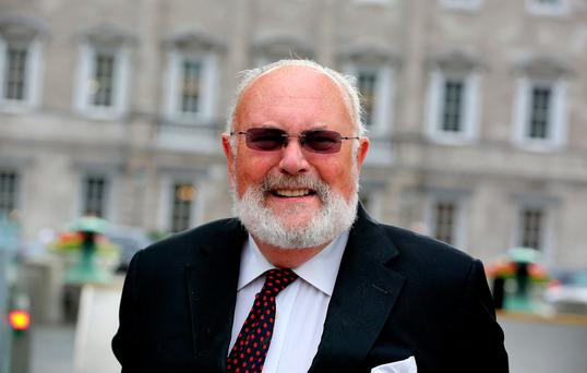 Mood music: Senator David Norris hit the right notes in a 'Channel 4 News'. Photo: Tom Burke