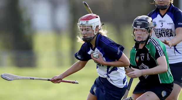 Clanmaurice's Jessica Fitzell and Aisling Walshe of Kilmessan Mandatory Credit ©INPHO/Bryan Keane