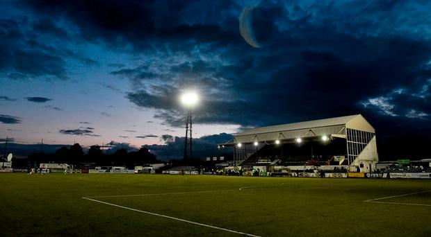 A general view of Oriel Park which could cost millions to redevelop. Photo: David Maher/SPORTSFILE