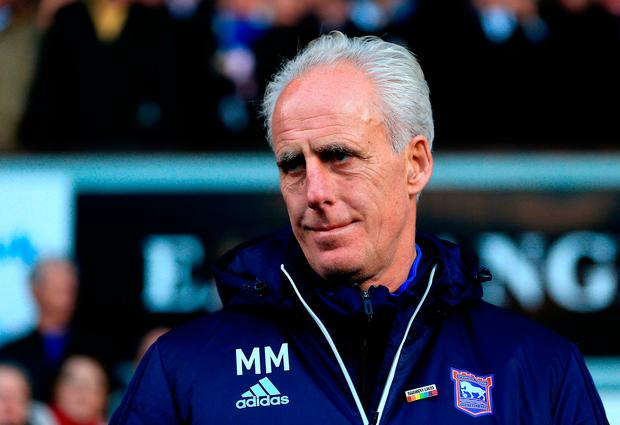 Ipswich Town Manager Mick McCarthy. Photo: Stephen Pond/Getty Images