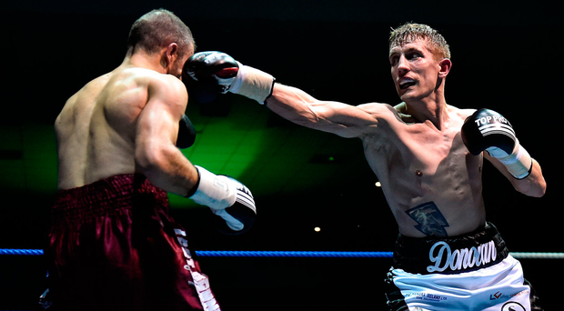 Eric Donovan, right, in action against Juan Luis Gonzalez. Photo by David Fitzgerald/Sportsfile