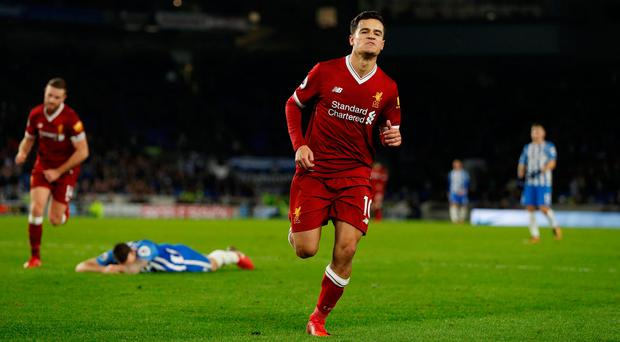 Liverpool's Philippe Coutinho. Photo: REUTERS