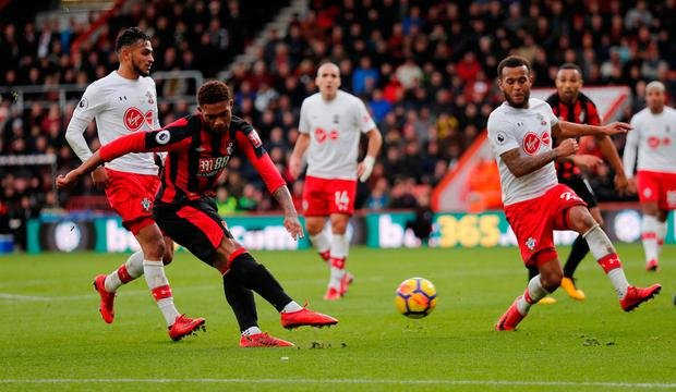 Bournemouth's Jordon Ibe shoots at goal. Photo: REUTERS