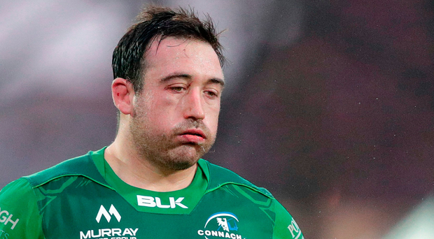 Connacht's Denis Buckley can't hide his disappointment after his side's defeat. Photo by Roberto Bregani/Sportsfile
