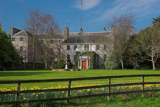 The main house at Abbeville in Kinsealy is a listed building