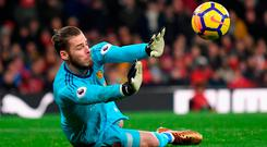 Outstanding: David de Gea. Photo: Laurence Griffiths/Getty Images
