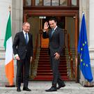 "Taoiseach Leo Varadkar, his Foreign Affairs Minister Simon Coveney, and the team of diplomats pursuing Ireland's case are entitled to a ""well done so far"" rating. But it would be seriously premature to begin any self-congratulations. Photo: REUTERS"