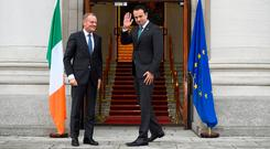 """Taoiseach Leo Varadkar, his Foreign Affairs Minister Simon Coveney, and the team of diplomats pursuing Ireland's case are entitled to a """"well done so far"""" rating. But it would be seriously premature to begin any self-congratulations. Photo: REUTERS"""
