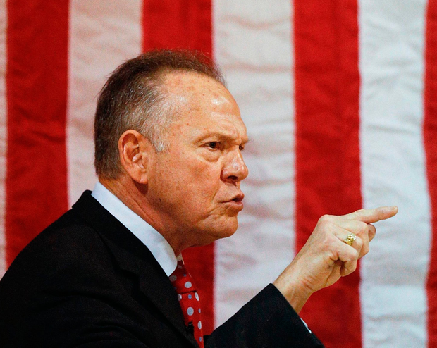 US Senate candidate Roy Moore speaks at a campaign rally Photo: AP Photo/Brynn Anderson