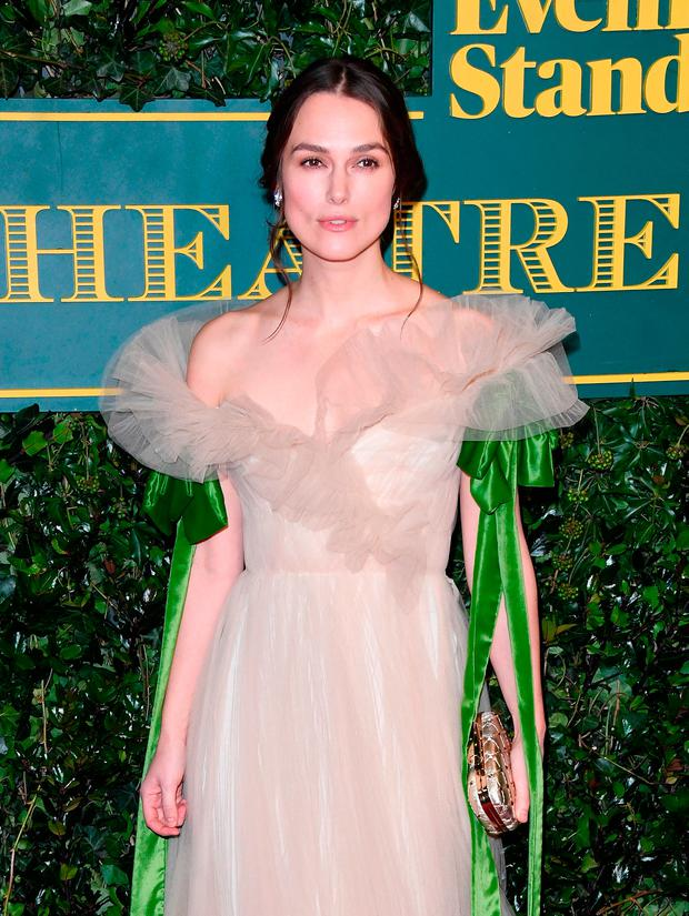 Keira Knightley attends the London Evening Standard Theatre Awards at the Theatre Royal on December 3, 2017 in London, England. (Photo by Stuart C. Wilson/Getty Images)