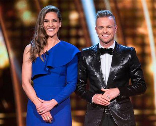 Presenters Amanda Byram and Nicky Byrne
