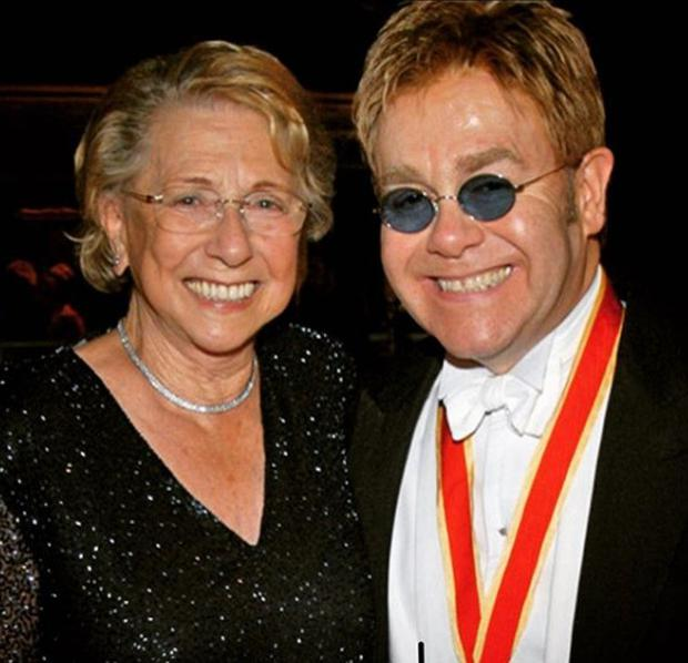'Travel safe Mum' - Elton John 'in shock' over his mother's death