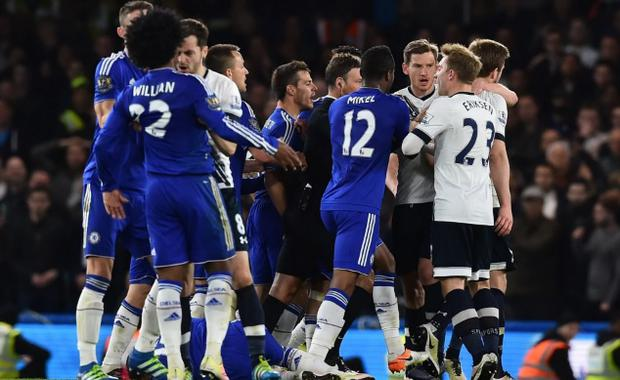 Both Chelsea and Spurs were fined for their conduct. CREDIT: AFP