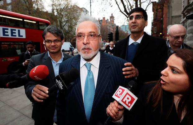 Vijay Mallya arrives at Westminster Magistrates Court in London, Britain, December 4, 2017. REUTERS/Simon Dawson