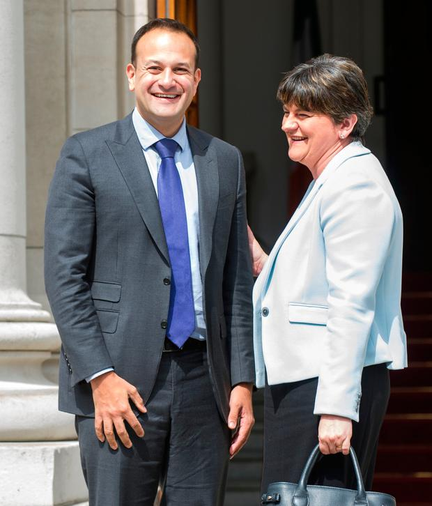 Taoiseach Leo Varadkar met with DUP leader Arlene Foster earlier this year. Photo: www.doug.ie