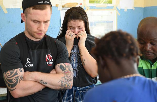 Former two-weight world champion boxer Carl Frampton MBE and his wife Christine from Northern Ireland, hoping to make a difference with a charity trip to Kenya. The couple spent four days in the East Africian country in support of Trocaire's Christmas Appeal. Picture by Justin Kernoghan