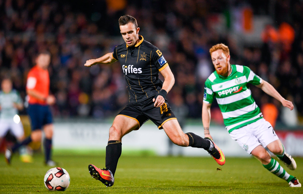 10 October 2017; Robbie Benson of Dundalk during the Irish Daily Mail FAI Cup Semi-Final Replay match between Shamrock Rovers and Dundalk at Tallaght Stadium in Tallaght, Dublin. Photo by Stephen McCarthy/Sportsfile