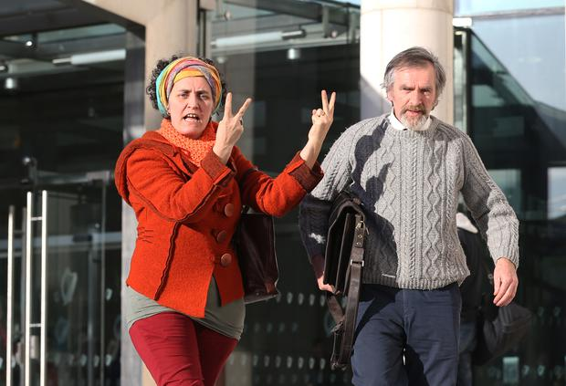 Food producer and Santo Daime church leader in Ireland, Marcus McCabe, 56,(right in picture) from Burdautien, in Clones, Co. Monaghan, appeared at Dublin District Court to contest a charge under the Misuse of Drugs Act. Pic Collins Courts