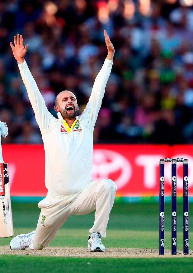 Lyon will almost certainly end 2017 as Test cricket's leading wicket-taker this year. Photo by Ryan Pierse/Getty Images