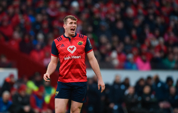 Chris Farrell showed a creative spark for Ireland in the November internationals that can serve Munster well if Johann van Graan can harness it. Photo by Diarmuid Greene/Sportsfile