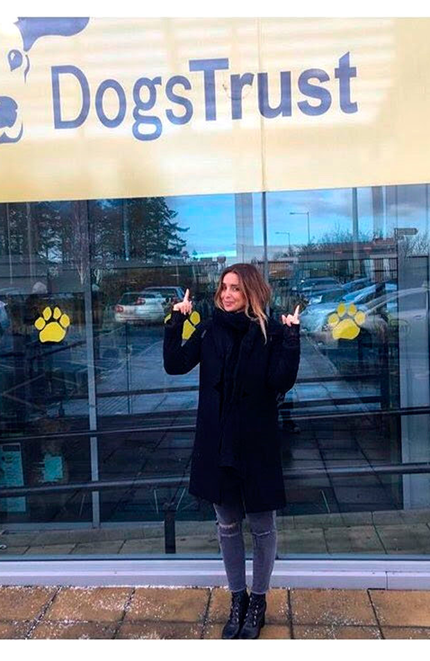 Louise Redknapp at Dogs Trust in Finglas.