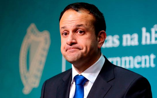 Taoiseach Leo Varadkar during a press conference at Government Buildings in Dublin following Brexit negotiations. Laura Hutton/PA Wire