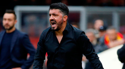 AC Milan coach Gennaro Gattuso. Photo: Reuters