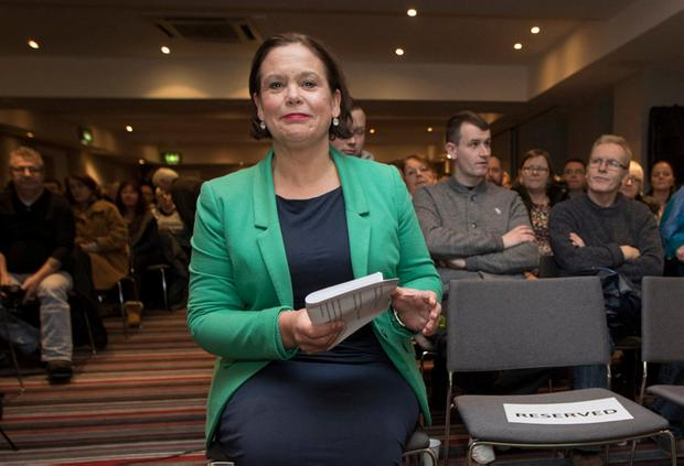 Mary Lou McDonald was confirmed as the Sinn Féin candidate in Dublin Central at a selection convention last night. Photo: Fergal Phillips