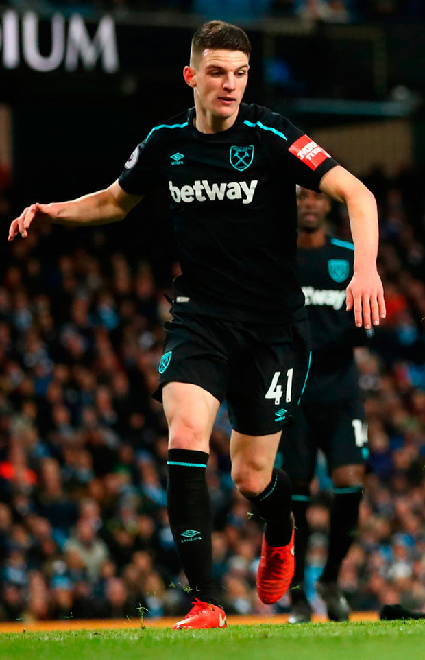 Declan Rice of West Ham United. Photo: Getty Images