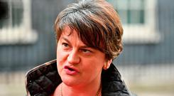 DUP leader Arlene Foster. Photo: PA