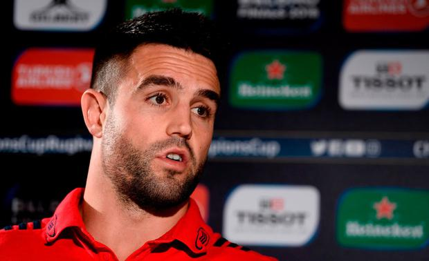 Conor Murray of Munster during a Munster Rugby press conference at the University of Limerick in Limerick. Photo by Diarmuid Greene/Sportsfile