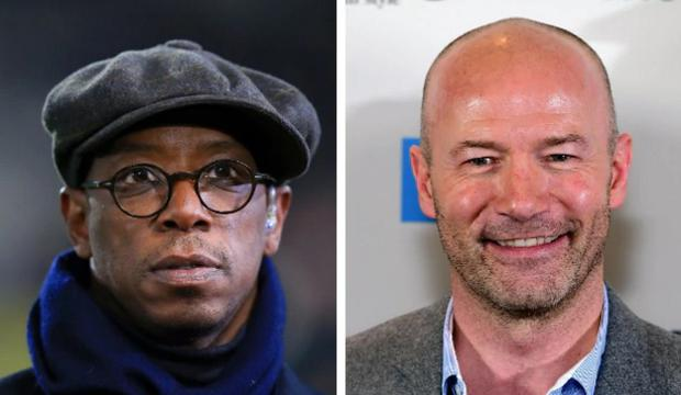 Ian Wright and Alan Shearer (R) have been accused of bias. CREDIT: PA