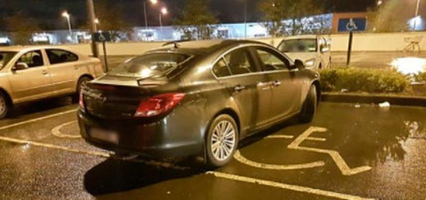 Gardaí shared this image and noted the driver did not display a disabled parking permit