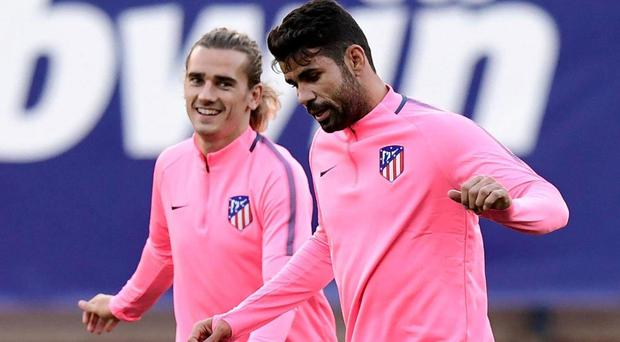 Diego Costa is ineligible to play for Atletico until January. AFP