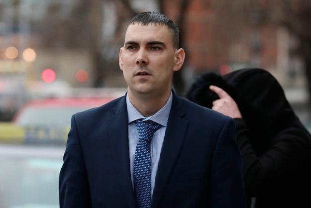 Christopher Anderson, of Corrig Avenue, Dun Laoghaire, Dublin pictured leaving the Four Courts after a settlement offer of €100,000 damages was approved for the family of Rita Anderson, following a High Court action.Pic: Collins Courts