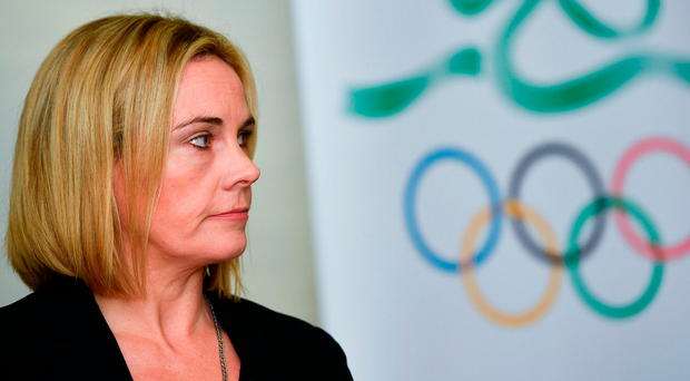 Sarah Keane in thoughtful mood during the OCI Strategic Plan media briefing in Dublin yesterday. Photo: Ramsey Cardy/Sportsfile